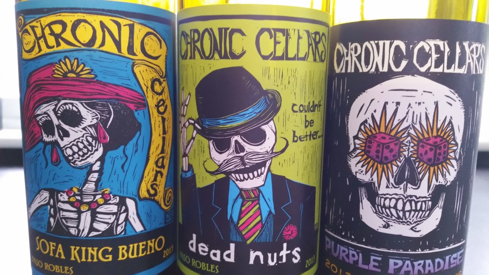 Chronic Cellars Labels…I Mean Wines